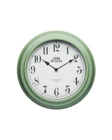 Zelené nástenné hodiny Kitchen Craft Living Nostalgia, ⌀ 25,5cm