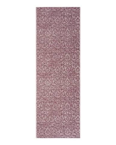 Fialovo-béžový vonkajší koberec Bougari Hatta, 70 x 200 cm