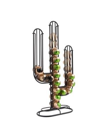 Čierny stojan na kávové kapsule PT LIVING Cactus
