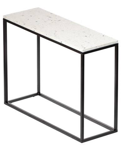 Konzolový stolík s kamennou doskou RGE Bianco