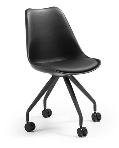 Čierna kancelárska stolička La Forma Lars