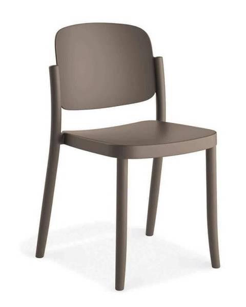 Möbelix Plastová stolička Plaza sivá