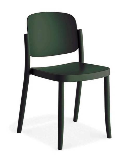 Möbelix Plastová stolička Plaza Zelená