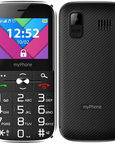 myPhone Mobilný telefón myPhone Halo C Senior s nabíjecím stojánkem čierny