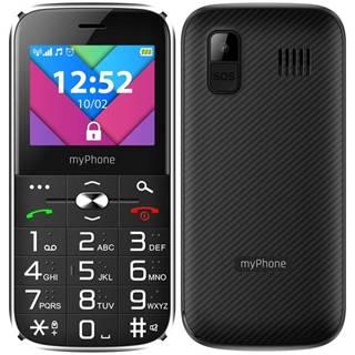Mobilný telefón myPhone Halo C Senior s nabíjecím stojánkem čierny