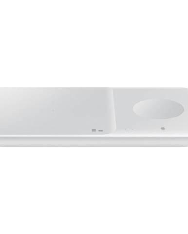 Bezdrôtová nabíjačka Samsung Duo Pad, 9W, bez kabelu biela