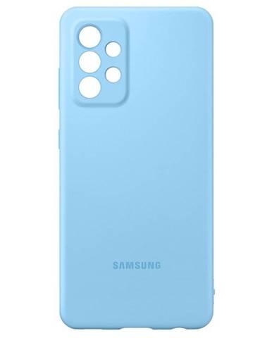 Kryt na mobil Samsung Silicon Cover na Galaxy A52 modrý
