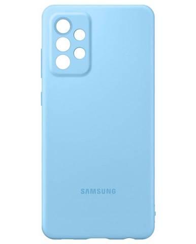 Kryt na mobil Samsung Silicon Cover na Galaxy A72 modrý