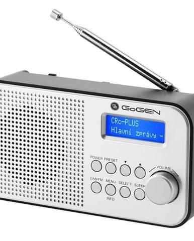 Rádioprijímač s DAB+ Gogen DAB 300 N strieborn