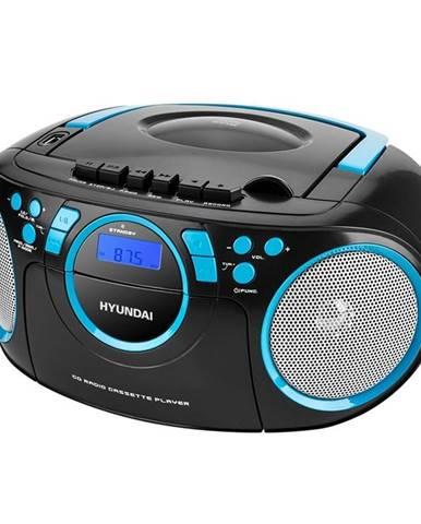 Rádiomagnetofón s CD Hyundai TRC 788 Aubbl čierny/modr
