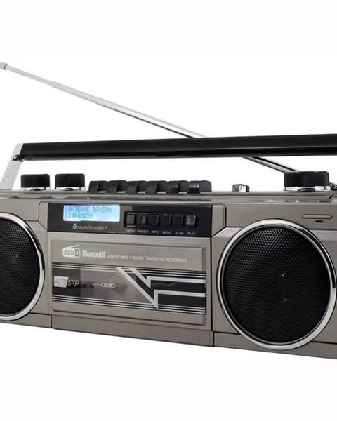 Soundmaster Rádiomagnetofón Soundmaster Srr70ti strieborn