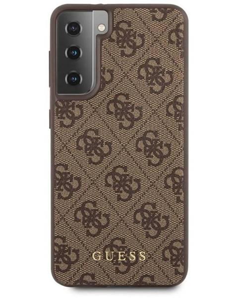 Guess Kryt na mobil Guess 4G na Samsung Galaxy S21+ 5G hnedý