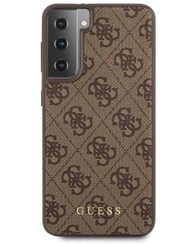 Kryt na mobil Guess 4G na Samsung Galaxy S21 5G hnedý