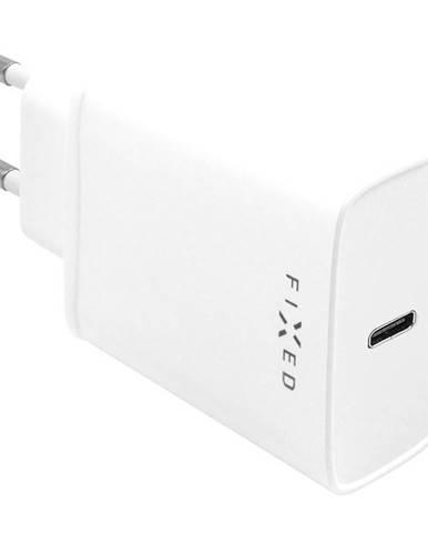 Nabíjačka do siete Fixed USB-C PD 20W biela