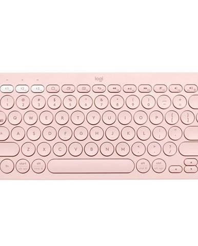 Klávesnica Logitech Bluetooth Keyboard K380, US ružová