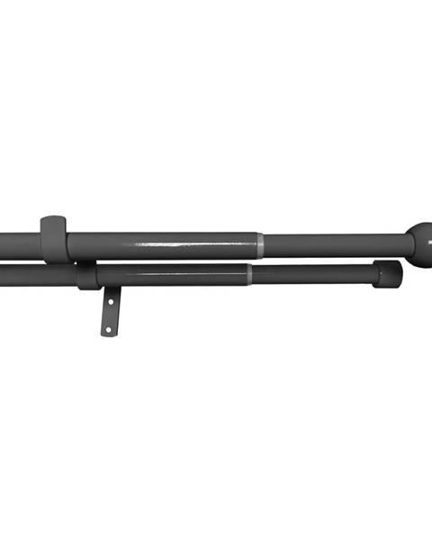 Gardinia Gardinia Súprava záclonová dvojitá roztiahnuteľná GUĽA 16/19 mm, 120 - 230 cm, čierny nikel, 120 - 230 cm