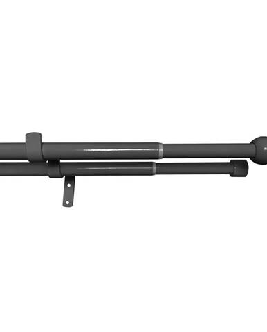 Gardinia Súprava záclonová dvojitá roztiahnuteľná GUĽA 16/19 mm, 120 - 230 cm, čierny nikel