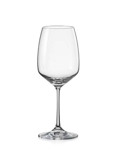 Crystalex 6-dielna sada pohárov na víno GISELLE, 455 ml