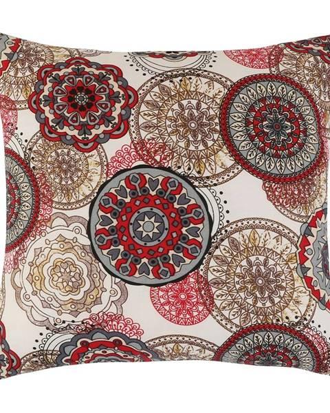 Bellatex Bellatex Vankúšik Adela Mandala červená, 40 x 40 cm