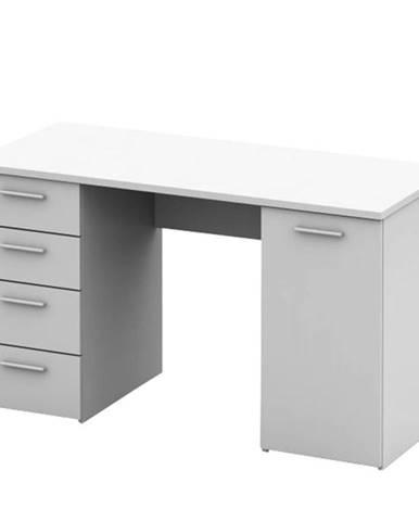 Písací stôl biela EUSTACH