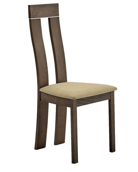 Tempo Kondela Drevená stolička buk merlot/Magnolia hnedá látka DESI