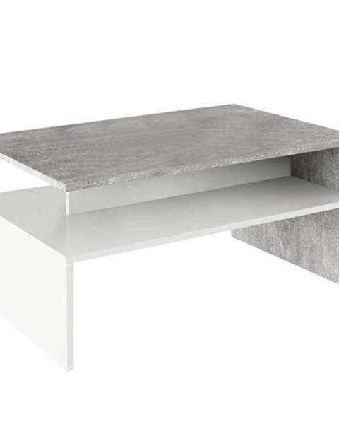 Tempo Kondela Konferenčný stolík betón/biela DAMOLI