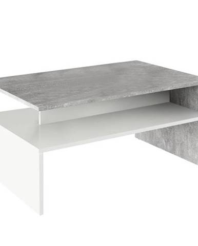 Konferenčný stolík betón/biela DAMOLI