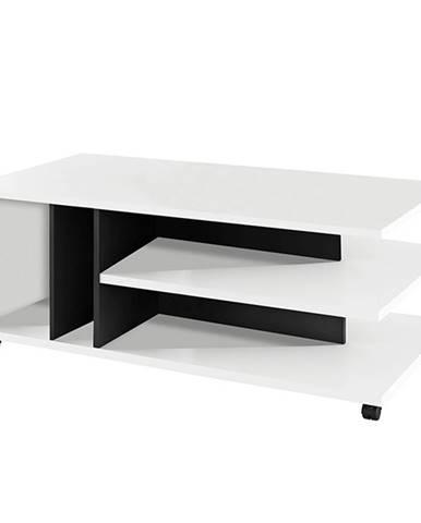 Konferenčný stolík biela/čierna DASTI
