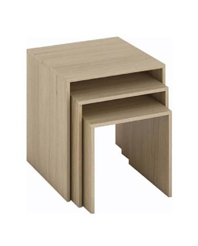 Sada troch príručných stolíkov dub sonoma SIPANI NEW