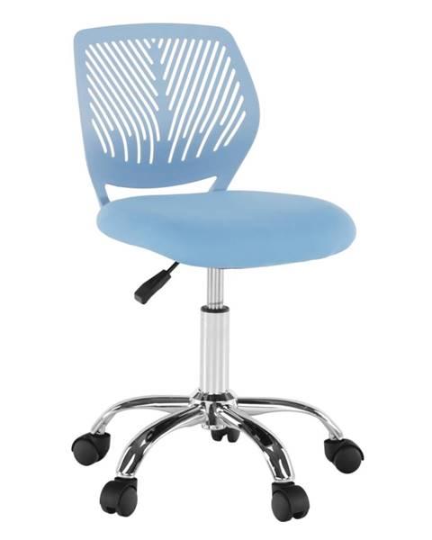 Tempo Kondela Otočná stolička modrá/chróm SELVA rozbalený tovar