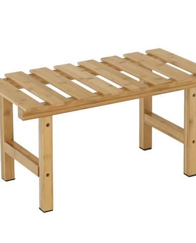 Príručný stolík k vírivke v tvare obdĺžnika prírodný bambus VIREO TYP 4 rozbalený tovar