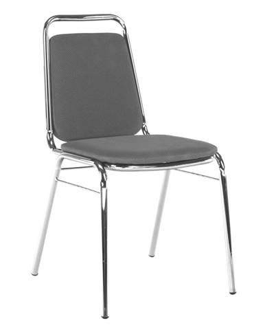 Zasadacia stolička sivá sieťovina ZEKI rozbalený tovar