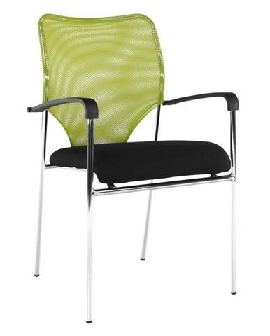 Zasadacia stolička zelená/čierna UMUT rozbalený tovar