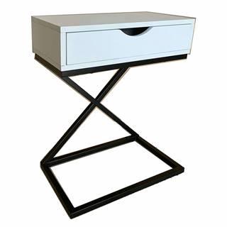 Príručný/nočný stolík biela/čierna VIRED