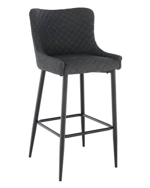 Tempo Kondela Barová stolička sivá/čierna CEZARIA rozbalený tovar