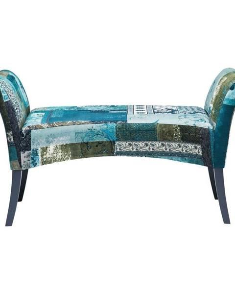 Kare Design Modrá čalúnená lavica Kare Design Motley