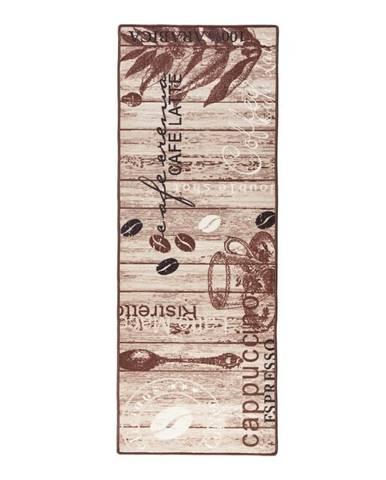 Hnedý kuchynský behúň Hanse Home Delicious Coffee, 67×180cm