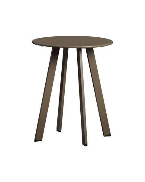 WOOOD Zelený železný zahradný konferenčný stolík WOOD Fer, ø 40 cm
