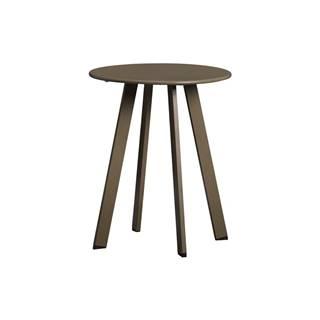 Zelený železný zahradný konferenčný stolík WOOD Fer, ø 40 cm