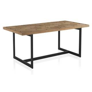 Jedálenský stôl s doskou v dekore jaseňového dreva Geese Honeycomb, 178 x 90 cm
