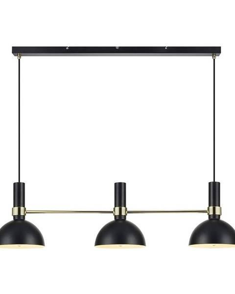 Markslöjd Čierne trojité stropné svietidlo Markslöjd Larry Black Gold