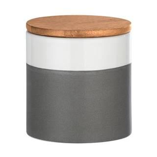 Keramický úložný box s bambusovým vekom Wenko Malta, 450 ml