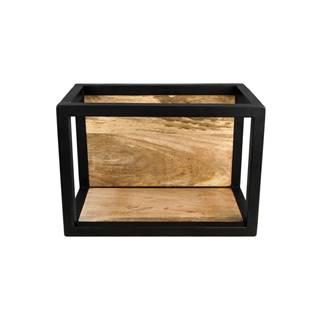 Nástenná polica s detailom z mangového dreva HSM collection Caria, 35×25 cm