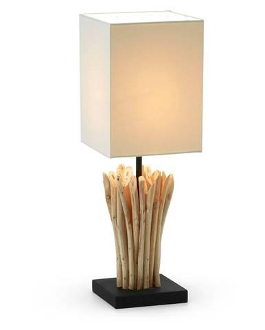 Béžová stolová lampa La Forma Poob