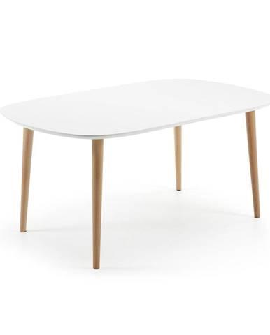 Rozkladací jedálenský stôl z bukového dreva La Forma Oakland, 160 x 100 cm