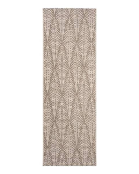 Bougari Hnedobéžový vonkajší koberec Bougari Pella, 70 x 200 cm