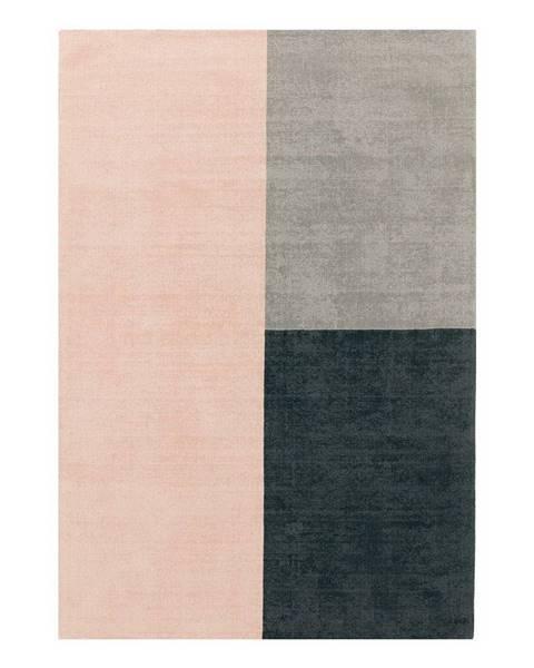 Asiatic Carpets Ružovo-sivý koberec Asiatic Carpets Blox, 160 x 230 cm