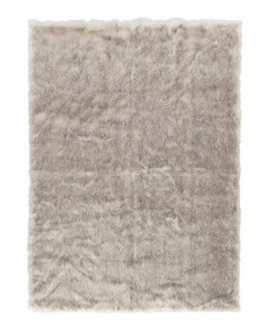 Hnedý koberec z umelej kožušiny Mint Rugs Soft, 170×120 cm