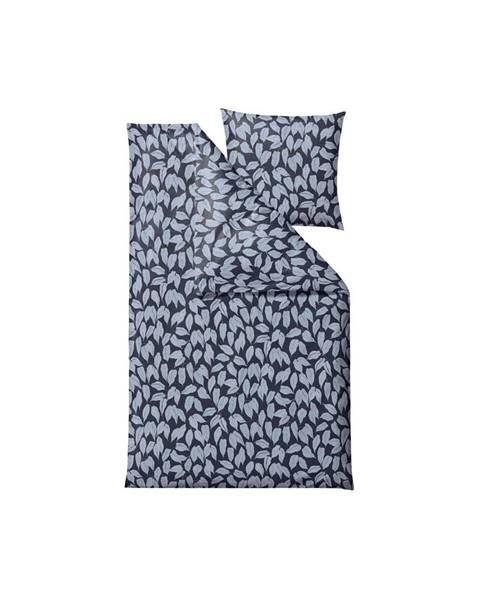 Södahl Modré obliečky na jednolôžko z bavlneného saténu Södahl Benjamina, 140 x 200 cm