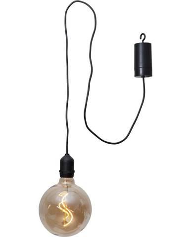 Hnedá vonkajšia svetelná LED dekorácia Best Season Glassball, dĺžka 1 m